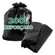 Saco De Lixo 200 Litros Reforçado Boca Larga Preto - 5kg