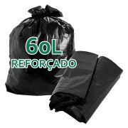 Saco De Lixo 60 Litros Reforçado Boca Larga Preto - 5kg