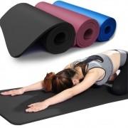 Tapete Yoga TPE Mat Pilates Ginástica 183x61x0,8cm Com Bolsa