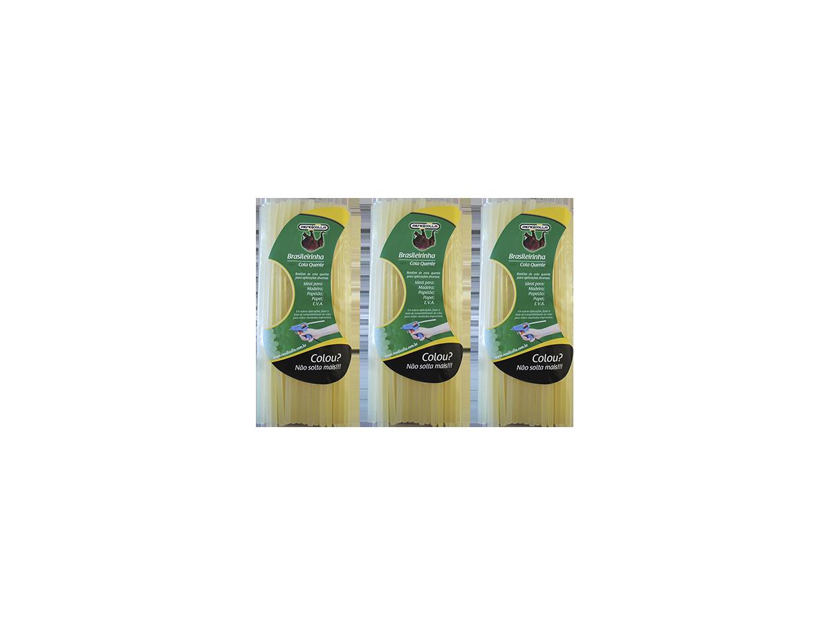 3KG Bastão Cola Quente 11,2mm Brasileirinha Martelinho Ouro