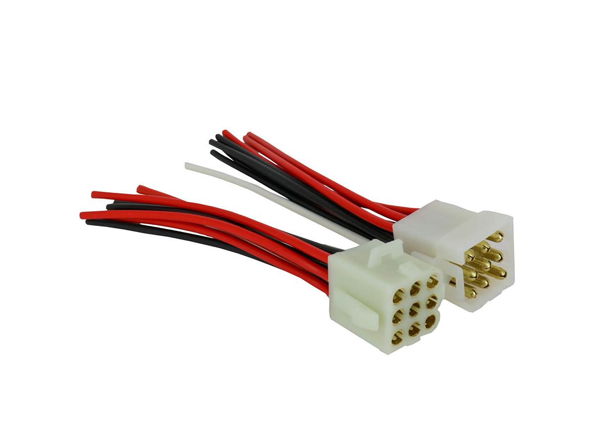 5 Unidades Chicote Plug Tomada 9 Vias Soquete Conector