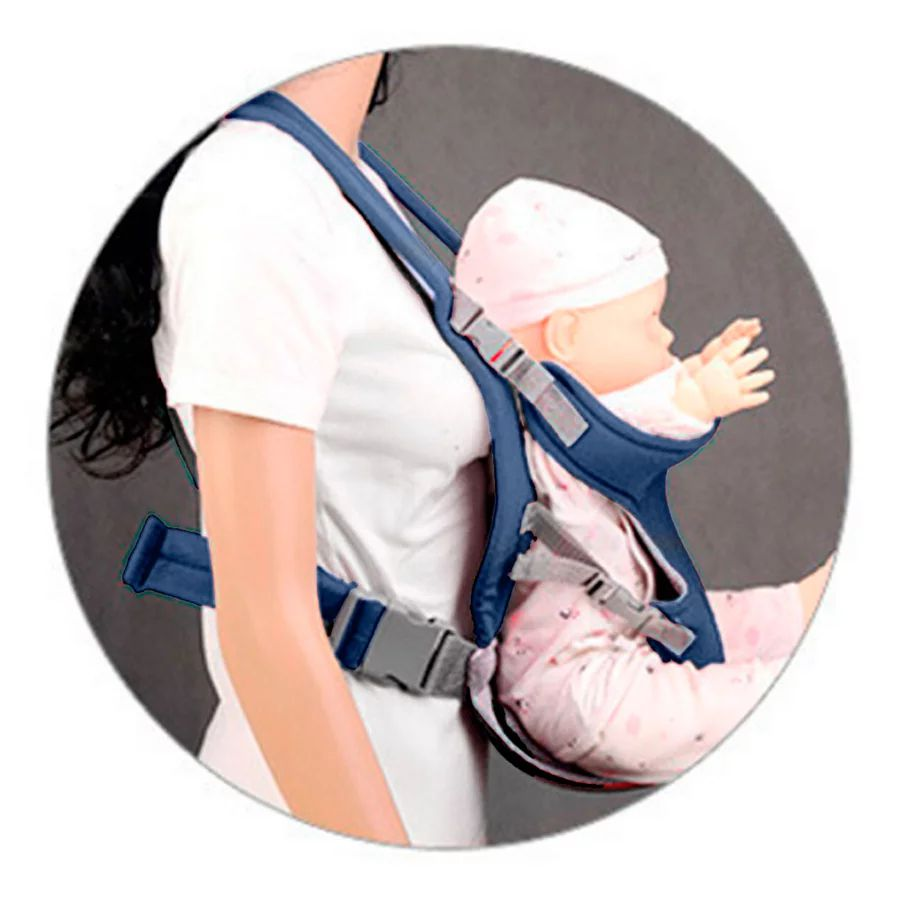 Canguru Bebê 3 Posições Ergonômico Carregador - Azul Marinho