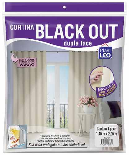 Cortina Blackout 1,40x2,00 Dupla Face Corta Luz Blecaute