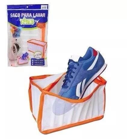 Kit 03 Saco Para Lavar Tênis Na Máquina Protetor Com Zíper