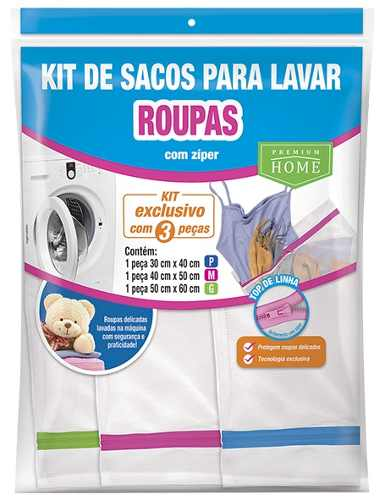 Kit 06 Saco Lavar Roupas Intimas P M G - Top De Linha