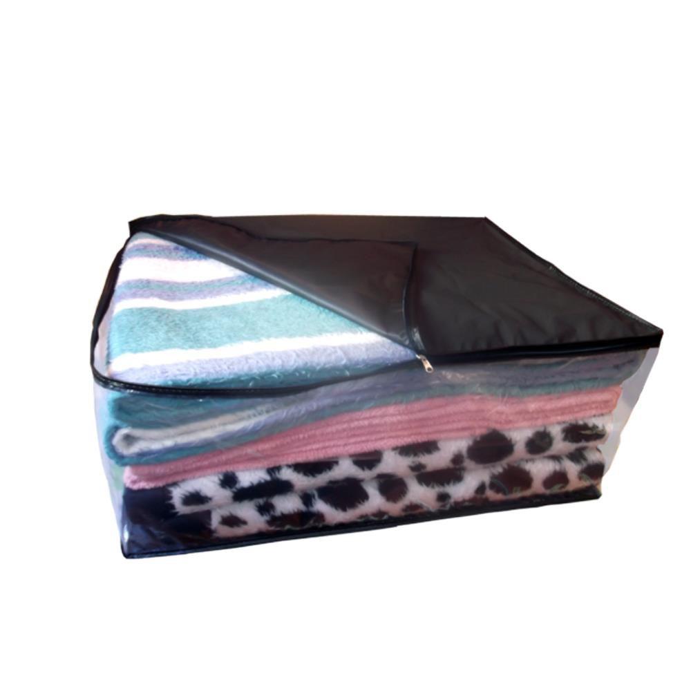 Kit 06 Saco Organizador Closet Edredon Cobertor C/ Ziper G