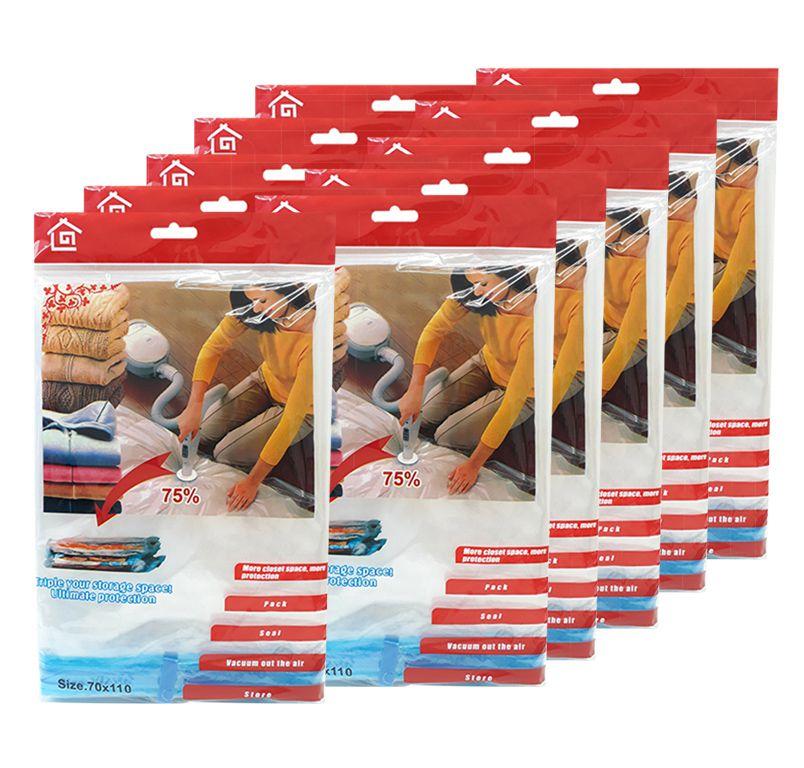 Kit 10 Sacos a Vácuo Organizador de Roupas Edredom Closet 110cm x 70cm