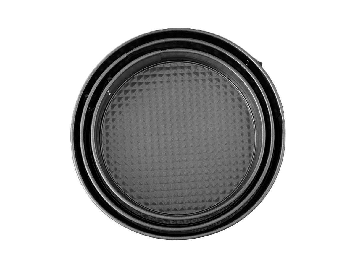 Kit 3 Formas Fundo Removível Antiaderente P/ Bolo 22/26/28cm