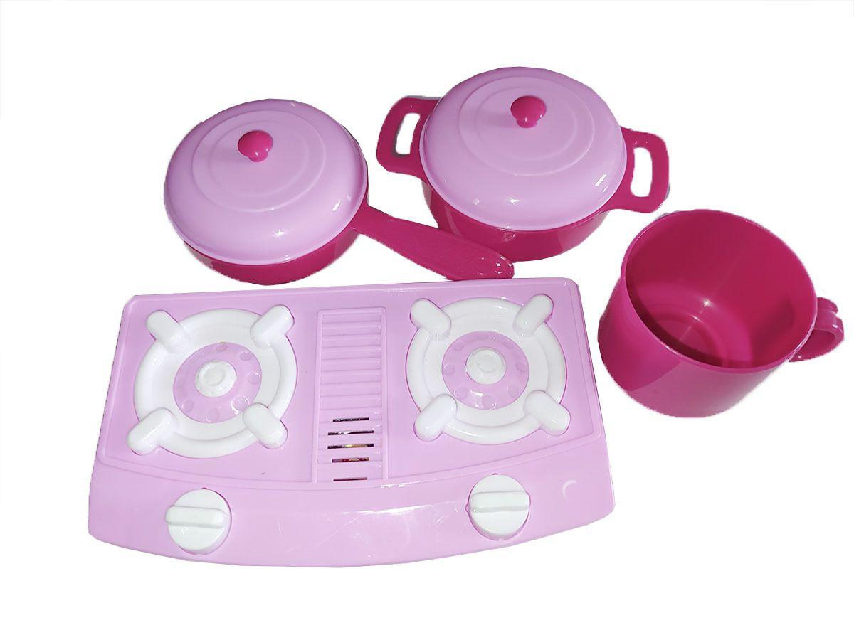 Kit Forno Cozinha Infantil 29 Pcs Fogao Pia Completo Inmetro - Cor Rosa