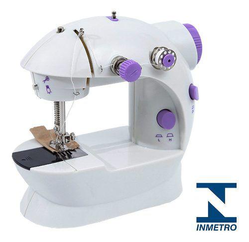 Mini Maquina De Costura Eletrica Portatil Bivolt Pedal De Acionamento Ideal Para Pequenos Reparos