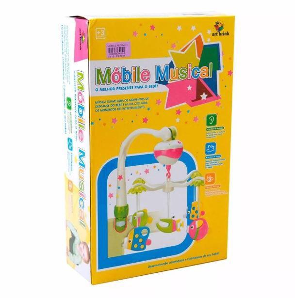 Mobile Musical Para Berço e Carrinho Música Suave Colorido