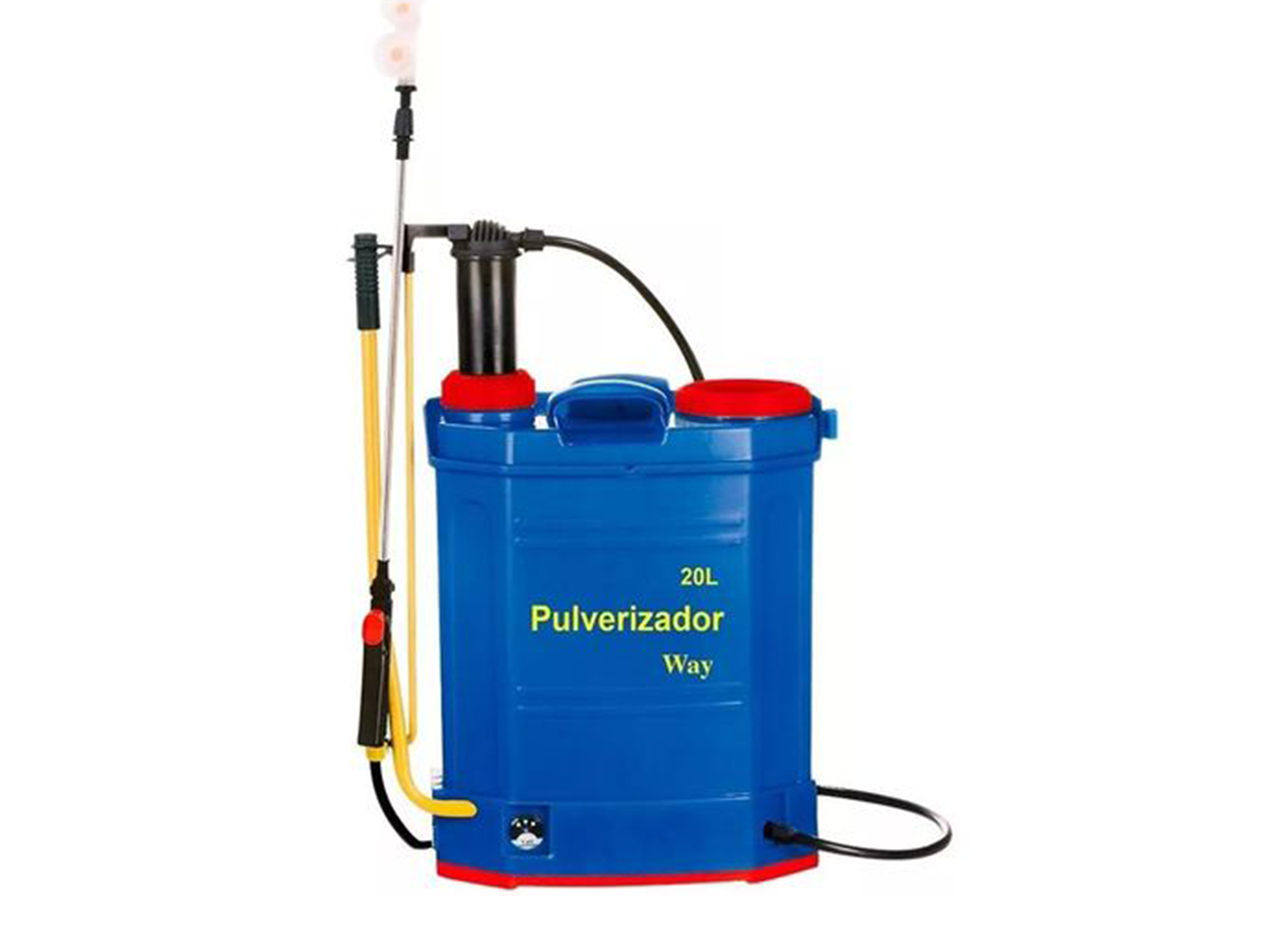 Pulverizador Costal 2x1 Elétrico E Manual 20l Bateria Filtro