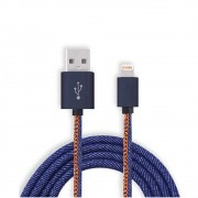 Cabo Lightining USB 3.0A Xcell  Revestido Jeans XC-CD-32