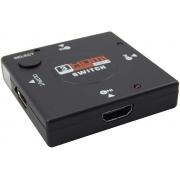 Adaptador Switch Hdmi 3x1 Divisor Seletora Hub