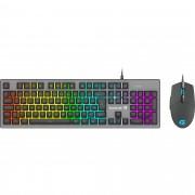 Combo Teclado + Mouse Gamer RGB Rainbow RANGER Grafite FORTR