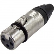 Conector Cannon Fêmea 3 Polos Metal JCCN0017 STORM - PCT / 1