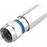 Conector F Compressão CNF-60012A RG6 PROELETRONIC - CEM / 10