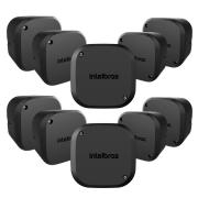 Kit 10 Caixas Passagem Câmera CFTV VBOX 1100 Black Intelbras