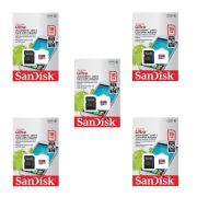 Kit 5 Cartão de Memória Micro SD Class 10 16GB Sandisk