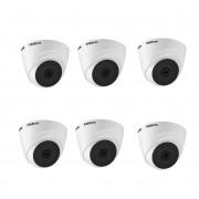 Kit 6 Câmeras de Segurança Dome Intelbras HD VHL 1120 D