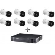 Kit DVR MHDX 1108 8 CH + 8 Câmeras HD VHL 1120 B Intelbras