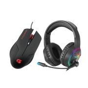 Kit Gamer Fortrek Headset BlackFire + Mouse Tarantula OM-702