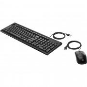 Kit Teclado + Mouse USB 160 Preto HP