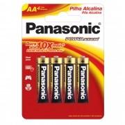 Pilha Alcalina AA 1,5V LR6XAB/4B192 PANASONIC (Cartela com 4