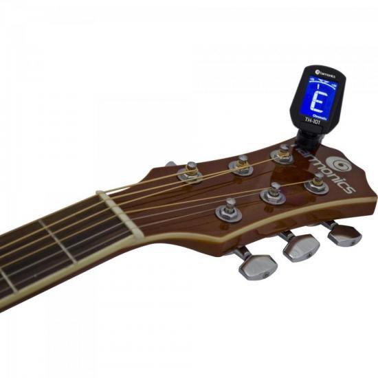 Afinador Guitarra Violão Baixo Ukulele Harmonics TH-101 Cromático Preto