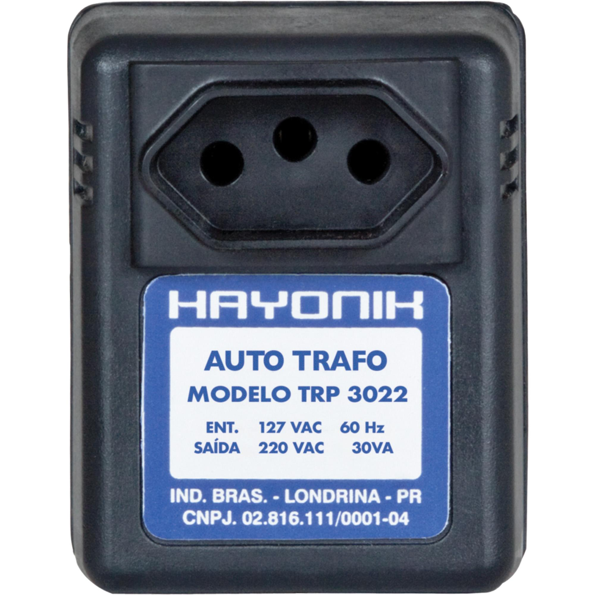 Auto Transformador Parede 127/220VAC 30VA TRP 3022 Preto HAY