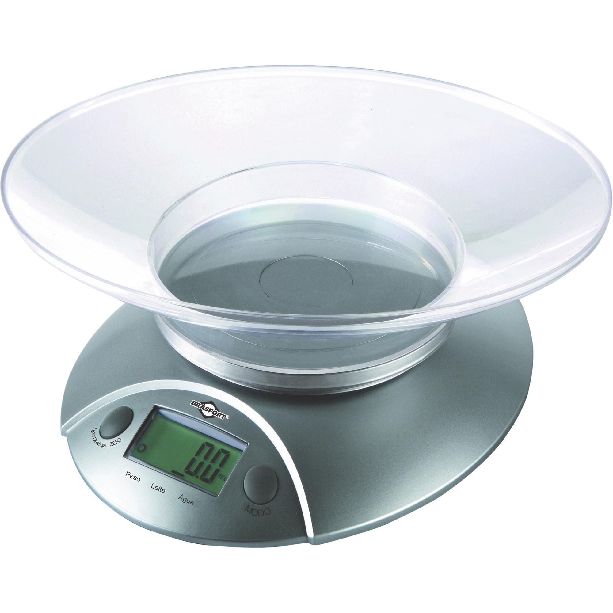 Balança de Cozinha Digital 5Kg Cinza BRASFORT
