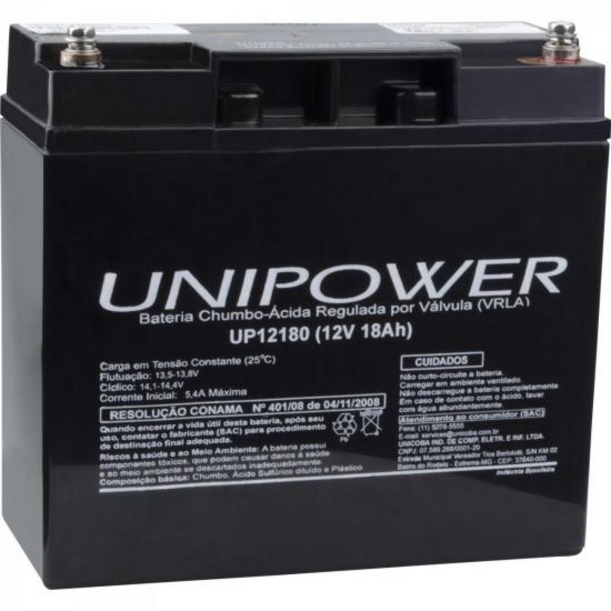 Bateria Selada 12V/18A UP12180 UNIPOWER