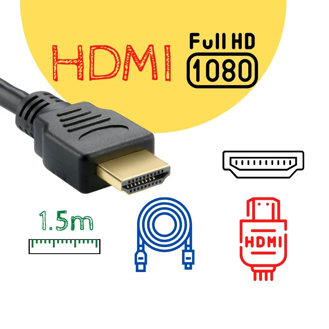 Cabo HDMI 1.5m com Kit Adaptadores Micro HDMI e Mini HDMI