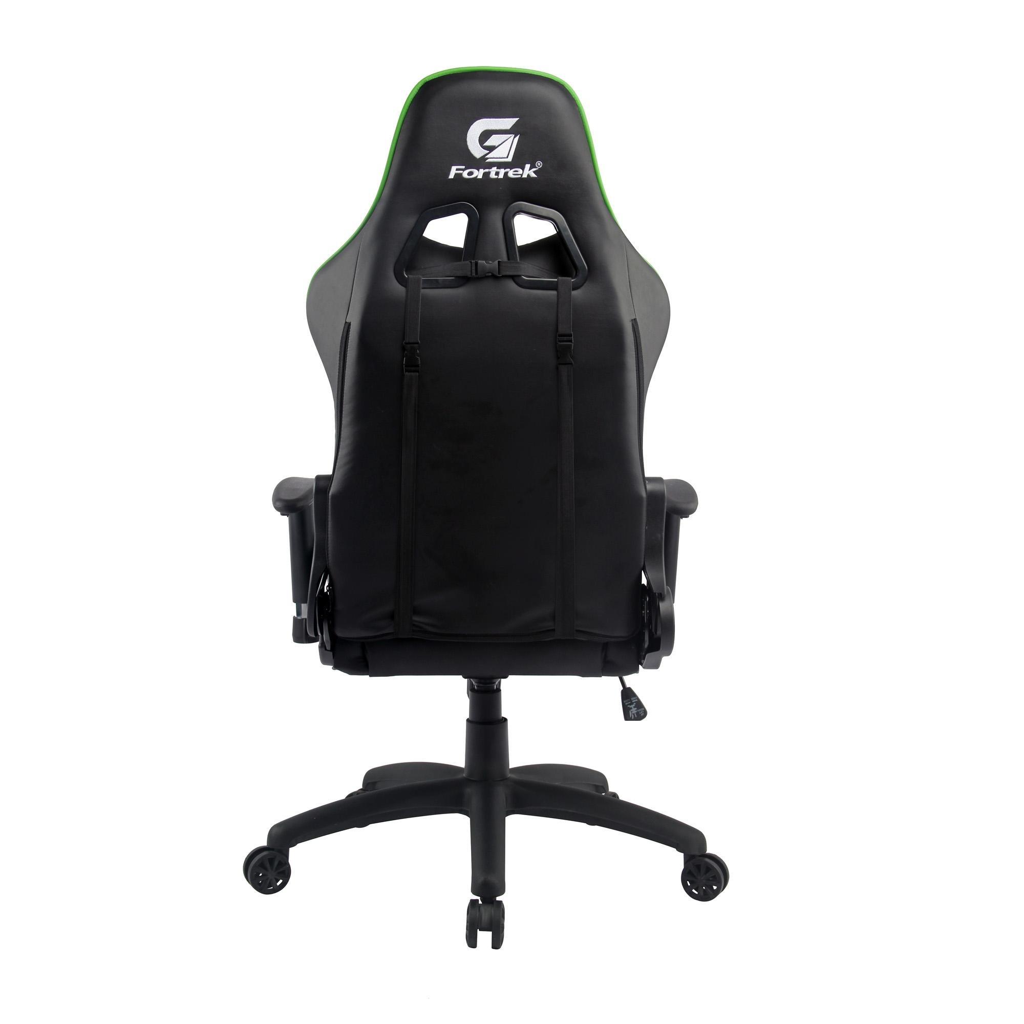 Cadeira Gamer Black Hawk Preta/Verde FORTREK