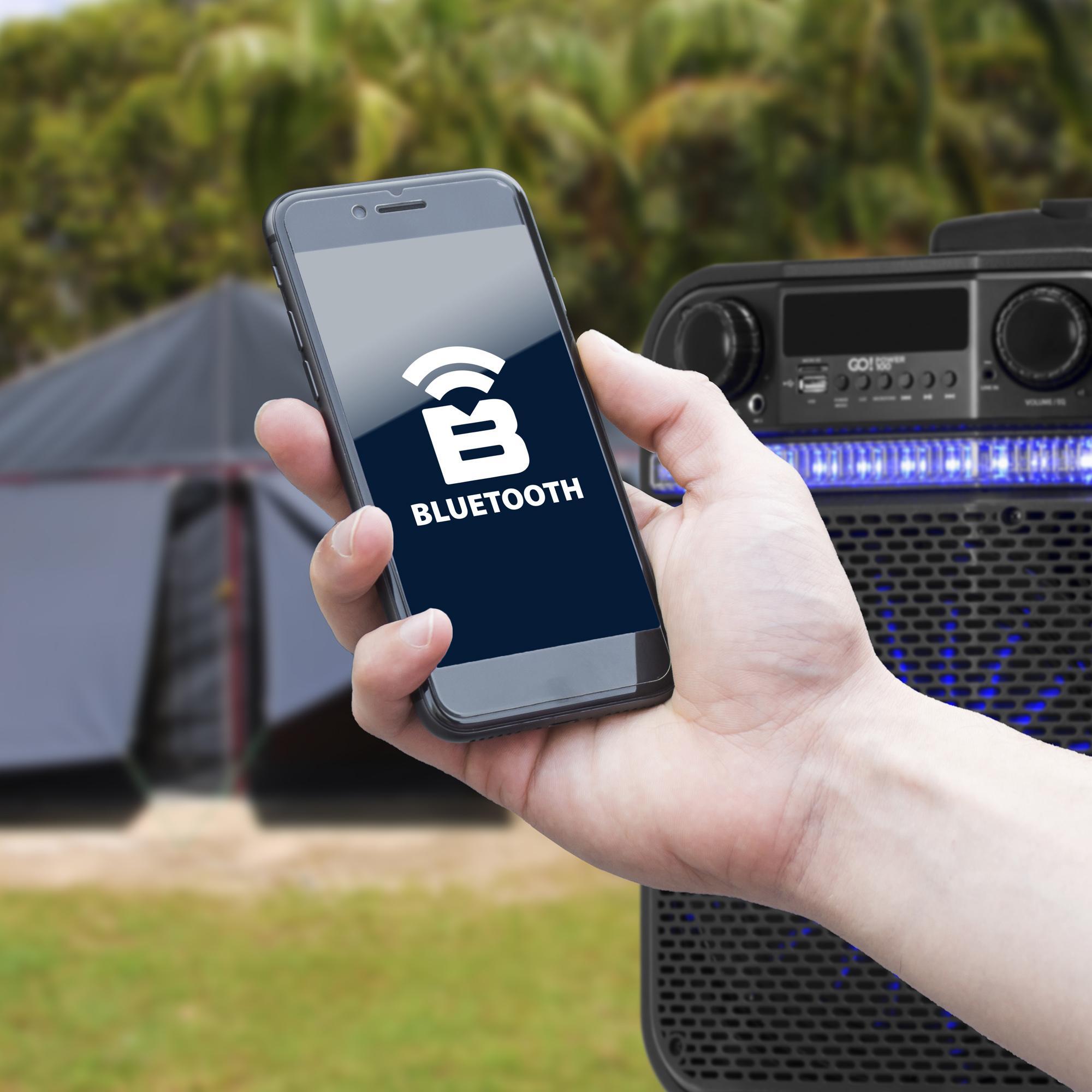Caixa Multiuso Portátil Bluetooth/MicroSD/USB/FM 80W GO!POWER