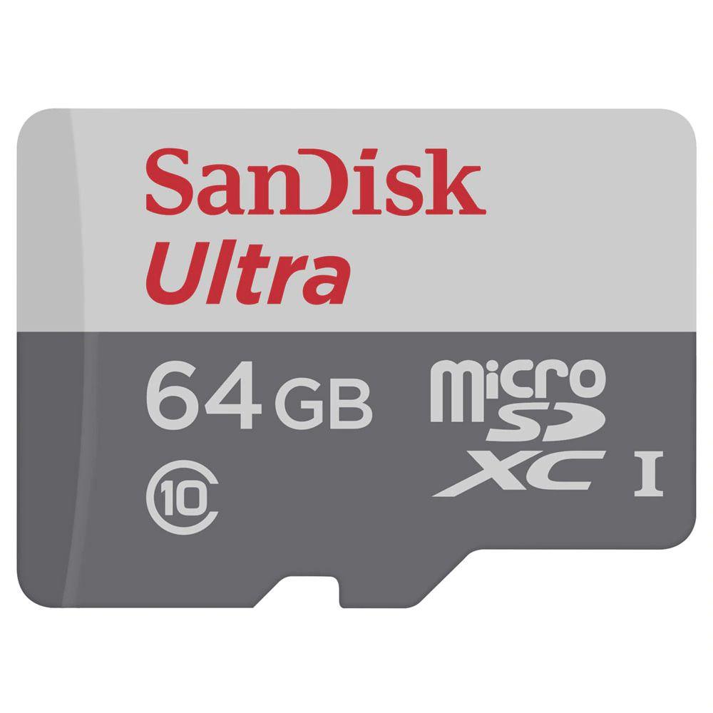 Cartão de Memória Micro SD Classe 10 64GB Sandisk Ultra