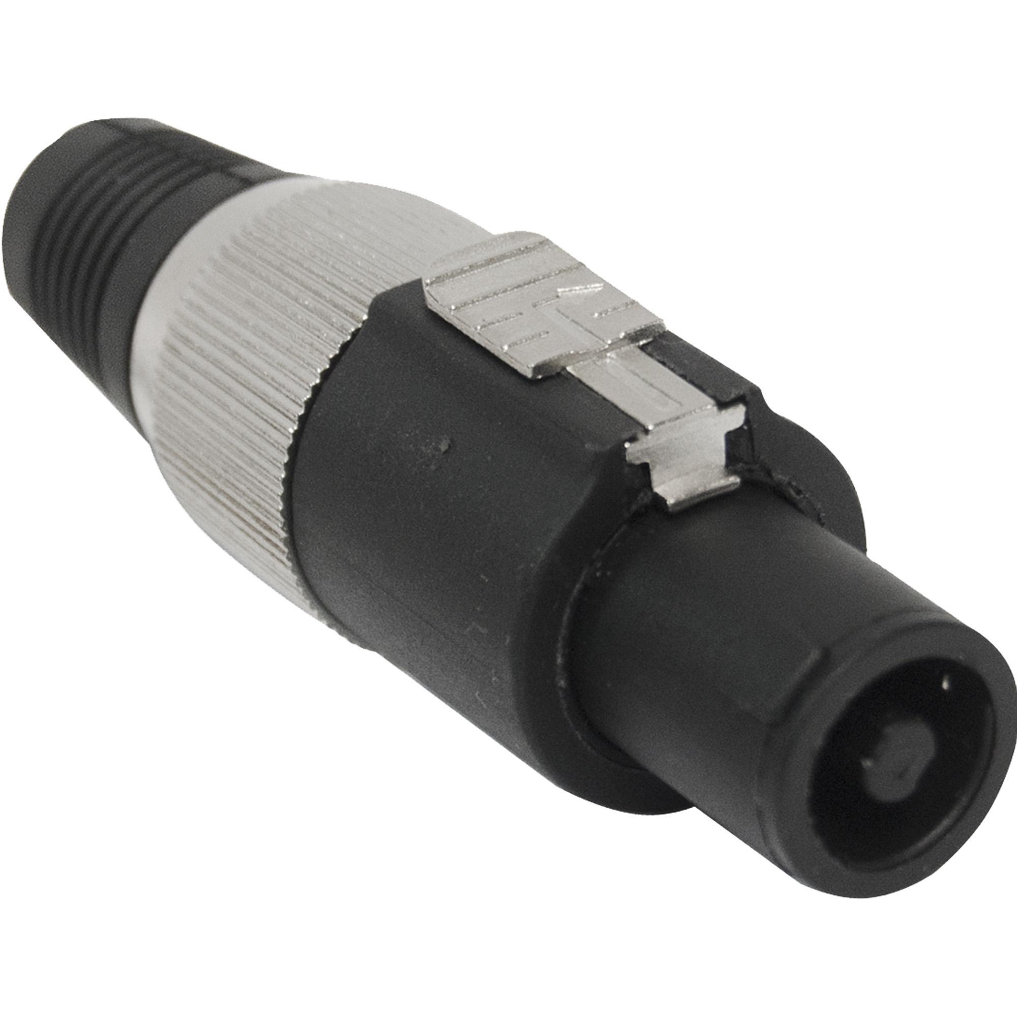 Conector Speakon de Linha Macho 4 Pólos PGSP0004 Preto/Cinza