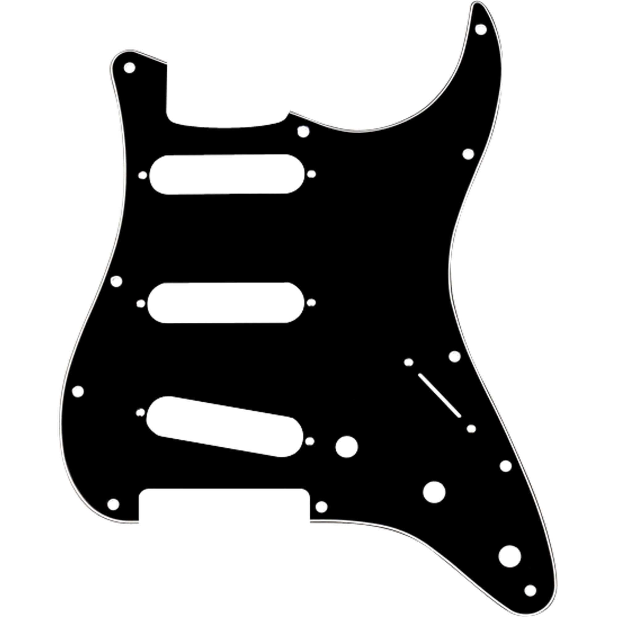 Escudo para Guitarra Stratocaster SSS Preto FENDER