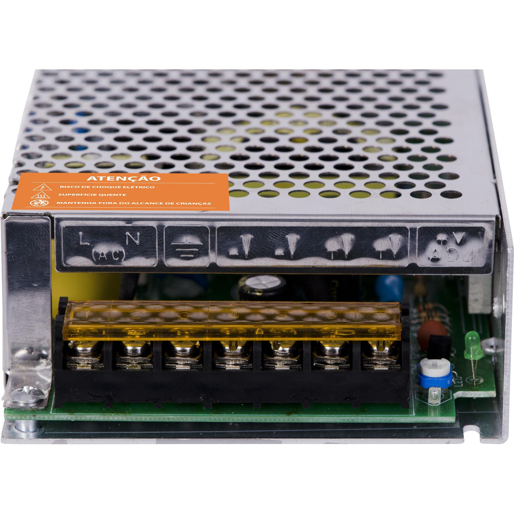 Fonte Colmeia 12VDC 10A 120W FTC1210 HAYONIK