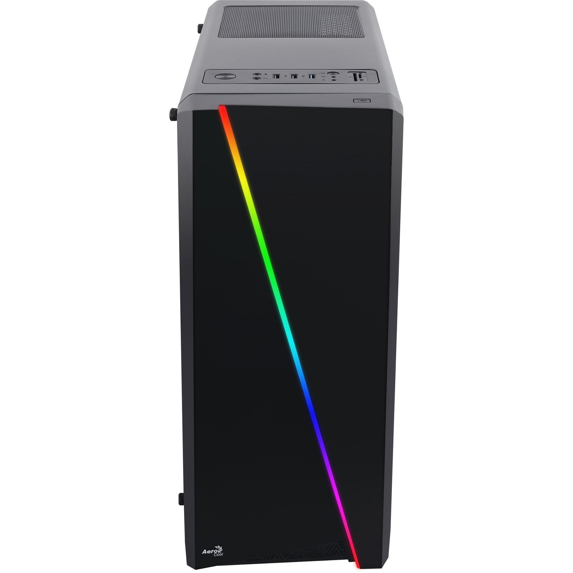 Gabinete MID Tower RGB Cylon Preto AEROCOOL