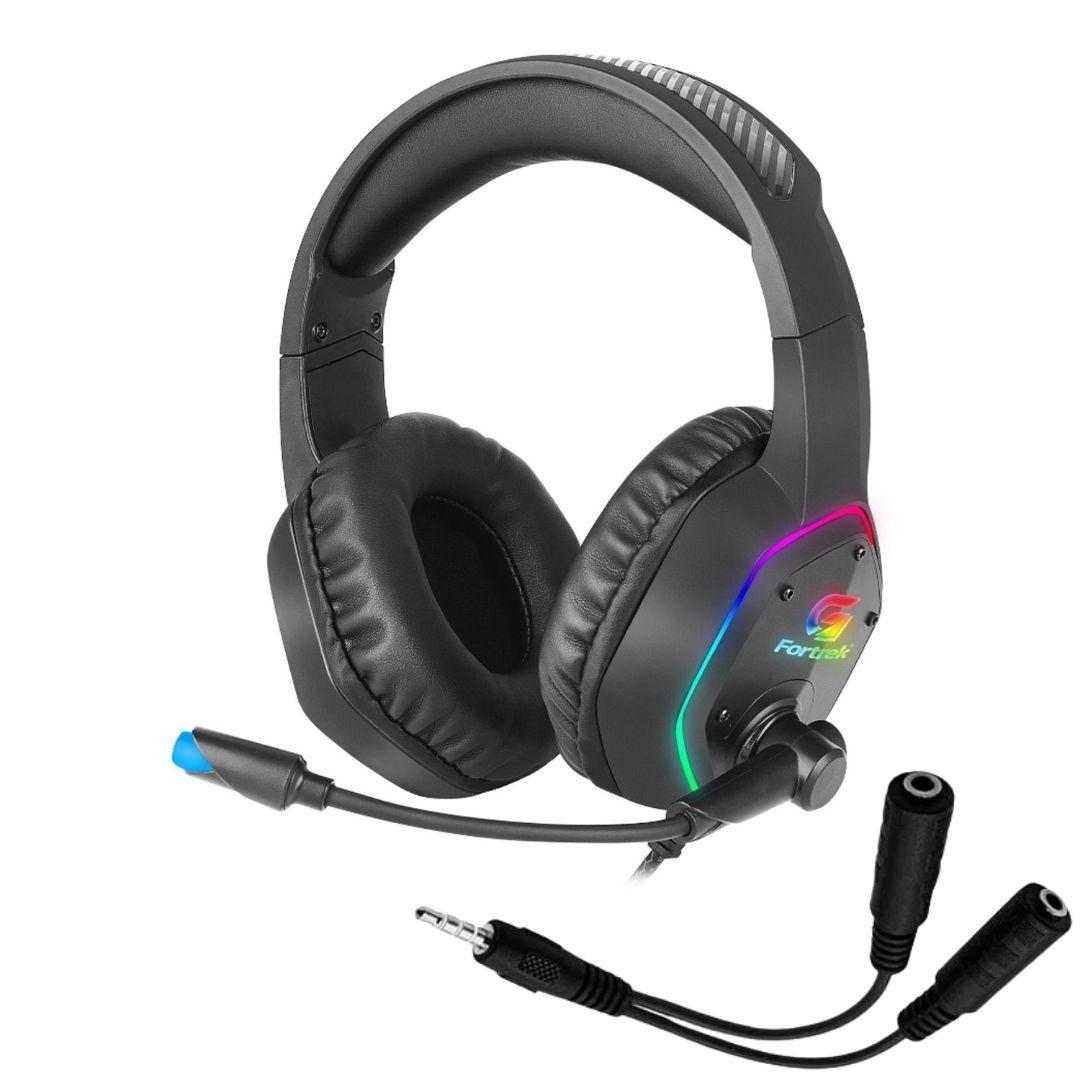 Headset Gamer Fortrek BlackFire RGB Rainbow