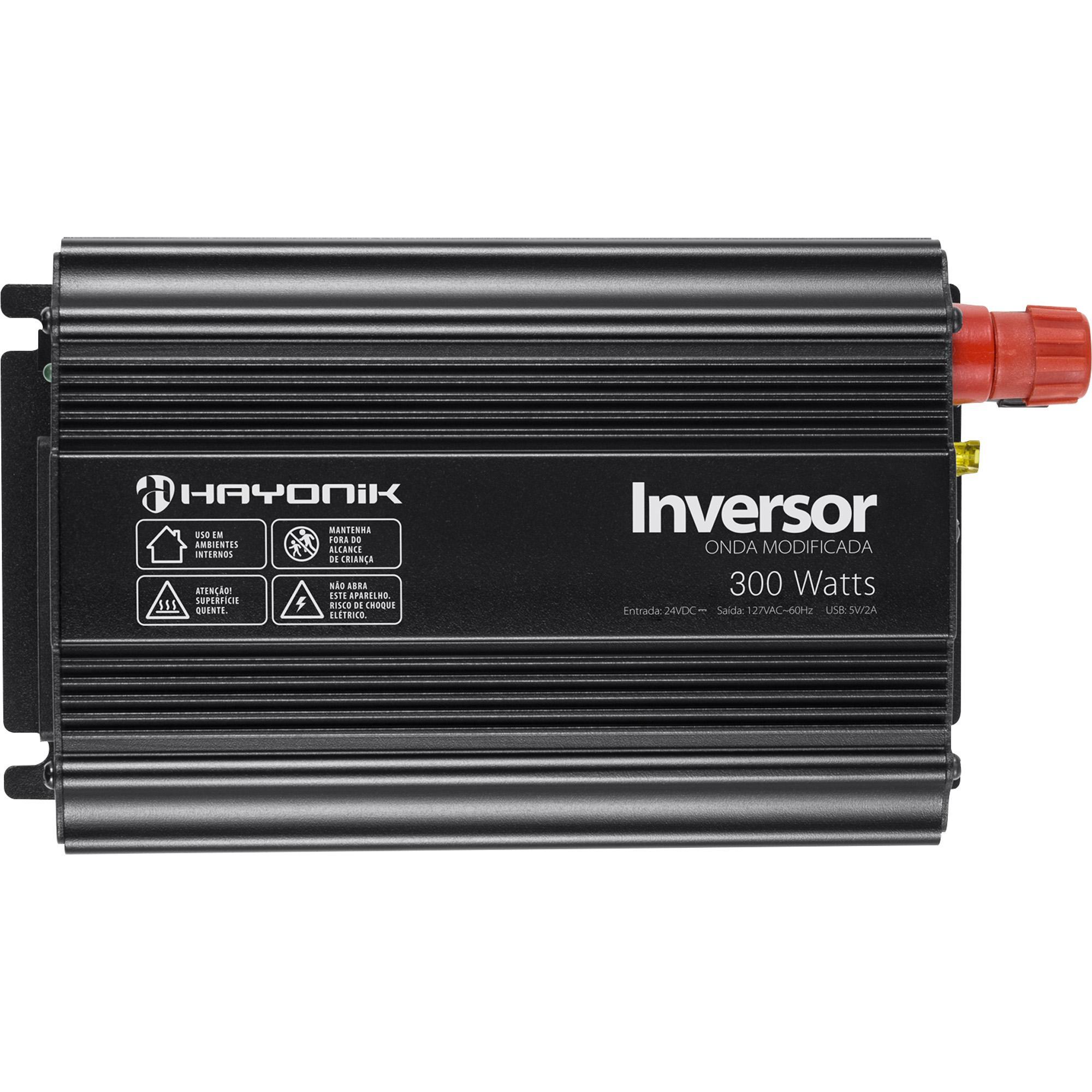 Inversor de Onda Modificada 300W 24VDC/127V PW11-8 HAYONIK