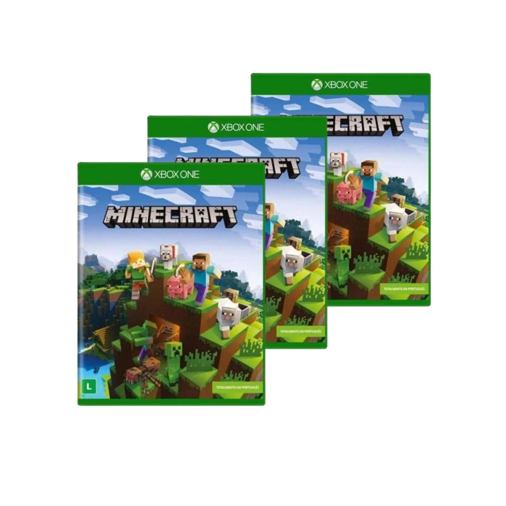 Jogo Xbox One Minecraft Atacado Física 25 Peças Revenda + NF
