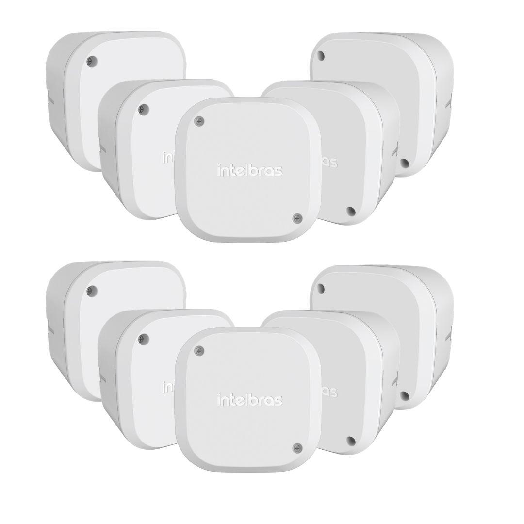 Kit 10 Caixas de Passagem Câmera CFTV VBOX 1100 Intelbras