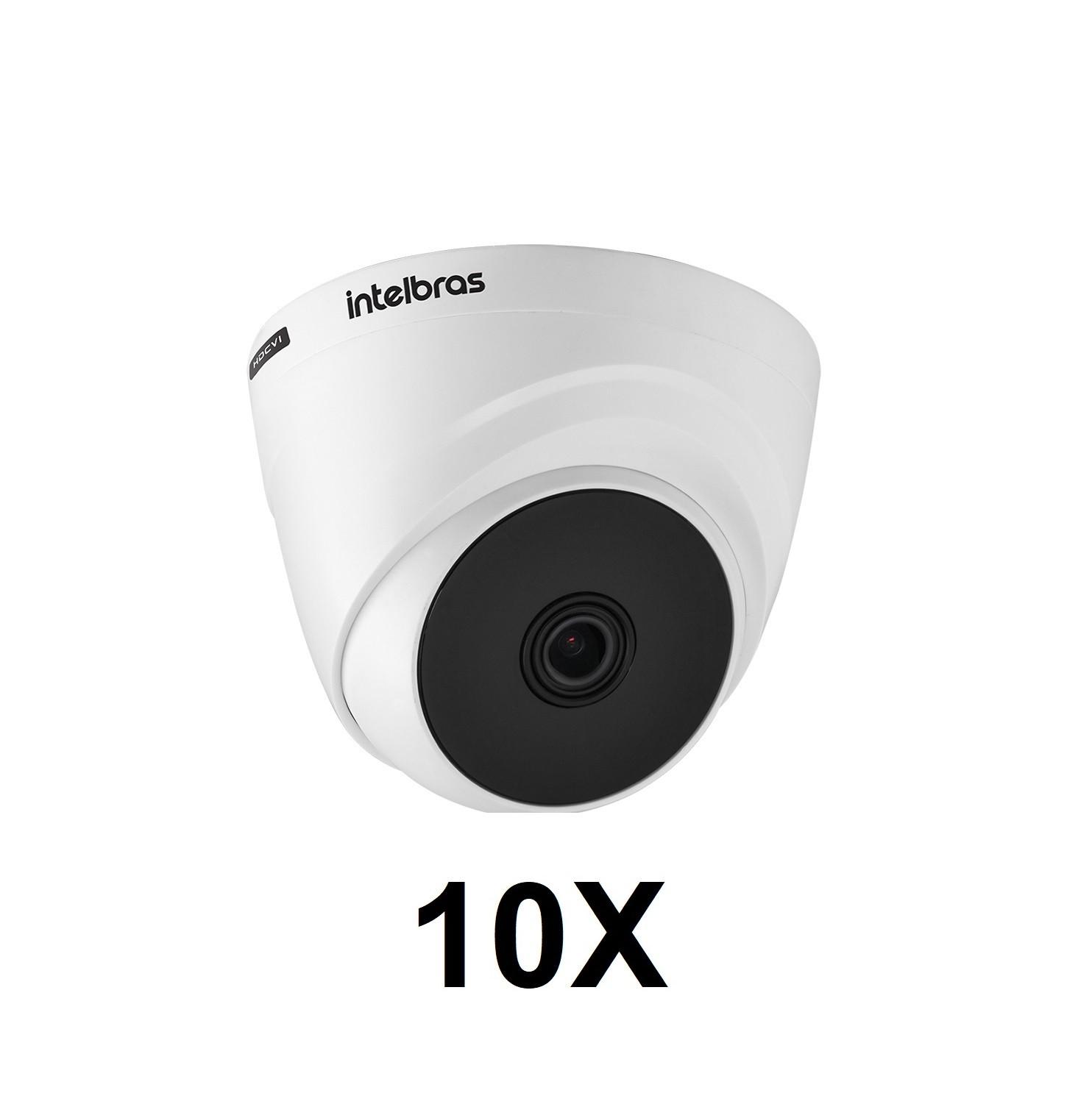 Kit 10 Câmeras de Segurança Dome Intelbras HD VHL 1120 D