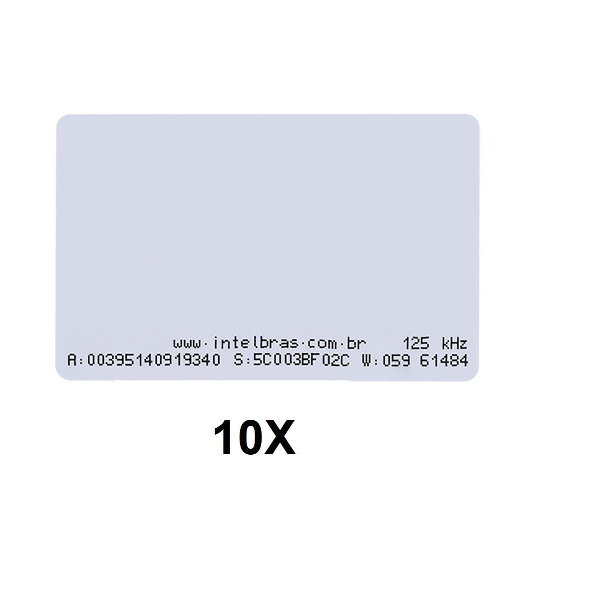 Kit 10 Cartões de Proximidade RFID 125 kHz Intelbras TH 2000