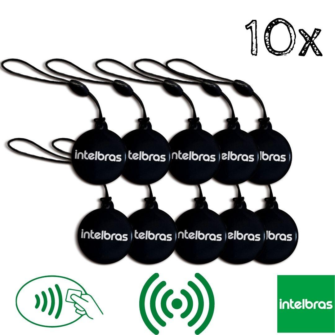 Kit 10 Chaveiros Aproximação RFID Intelbras Mifare XID1000