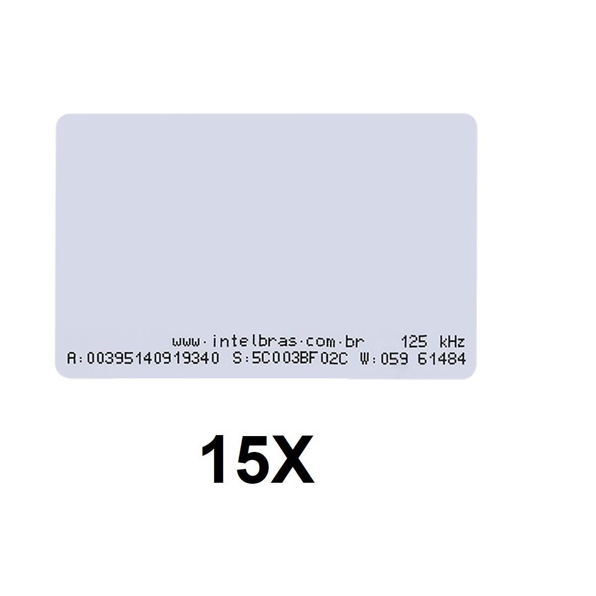 Kit 15 Cartões de Proximidade RFID 125 kHz Intelbras TH 2000
