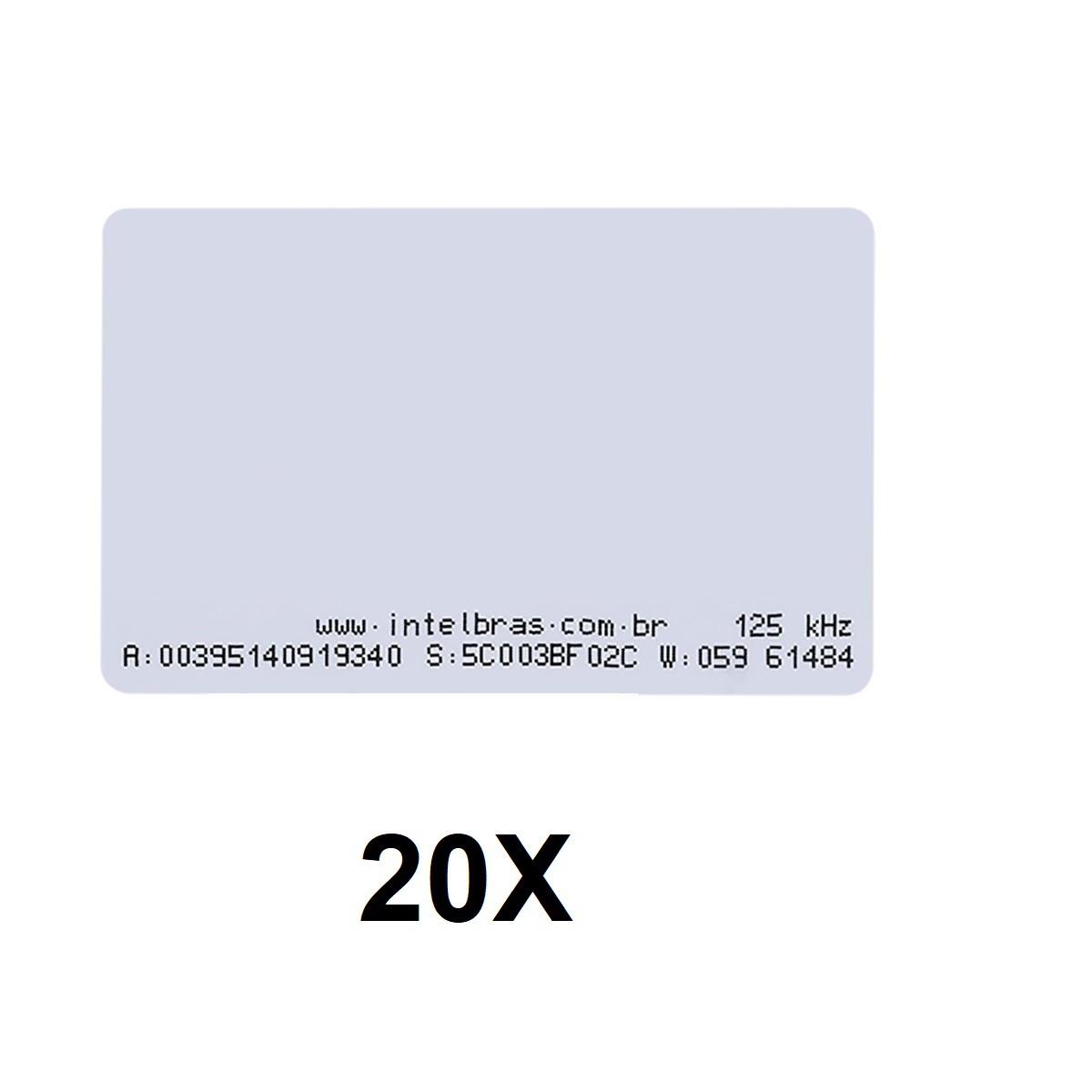 Kit 20 Cartões de Proximidade RFID 125 kHz Intelbras TH 2000