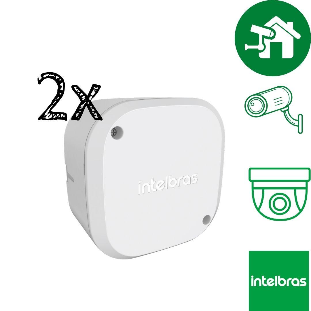 Kit 2 Caixas de Passagem Câmera CFTV VBOX 1100 Intelbras